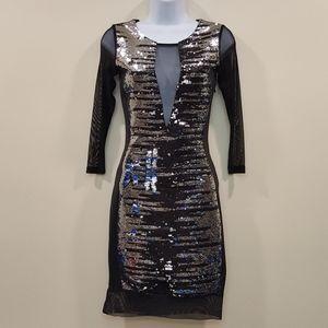 Bebe Flip Sequin Dress